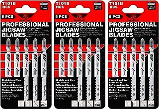 15 hojas de sierra para caladora TopsTools T101B para Bosch, DeWalt, Makita, Milwaukee y muchas más
