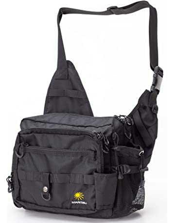 fe0b0c84131 MARITSU フィッシング タックルバッグ ショルダーバッグ ロッドホルダー付き 撥水性 多機能 大容量