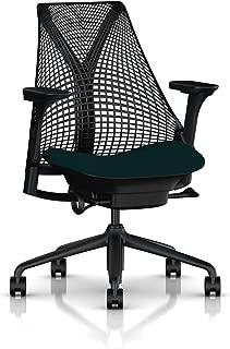 Herman Miller Sayl Task Chair: Tilt Limiter with Seat Angle Adjustment - Adj Seat Depth - Fully Adj Arms - Hard Floor Casters - Black Base & Frame