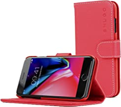Snugg iPhone 7 and 8 Case Apple iPhone Flip [Card Slots] Leather Wallet Cover Design in Red, Legacy Range