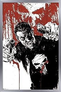 "Trends International Marvel Comics - The Punisher - Pistols Wall Poster, 22.375"" x 34"", Silver Framed Version"