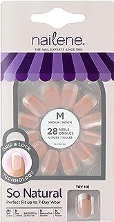 Nailene So Natural Ultra Flex Nail, Pink French, Medium, Package of 28 Nails