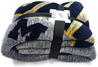 Victoria's Secret Pink Sherpa Throw Blanket Soft Fleece University of Michigan Wolverines U of M
