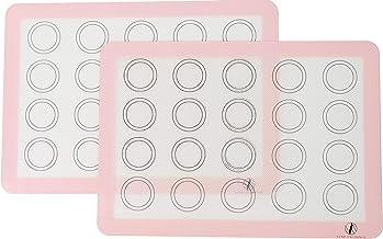 Vend Exchange Silicone Macaron Baking Mat Sheet, Set of 2