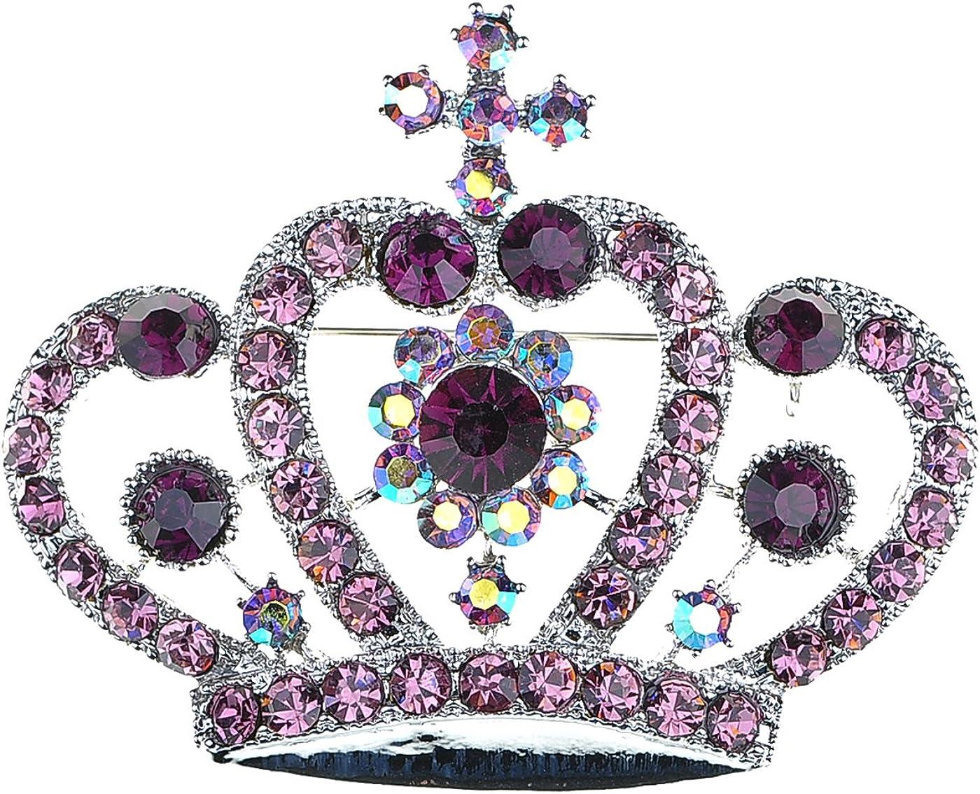 Alilang Amethyst Purple Multi-Colored P Rhinestone Max 54% 4 years warranty OFF Crystal Royal