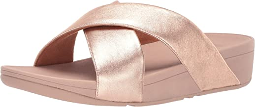 FitFlop Women's LULU Cross Slide Sandals-Leather