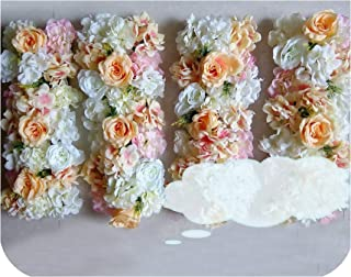 fantasticlife06 Artificial Silk Flower Arch Party Pavilion Corners Decorative Flowers Wedding Road Lead Hydrangea Peony Rose Flower for Wedding,Champagne