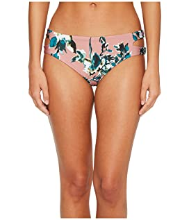 Watercolor Floral Reversible Keyhole Bikini Bottom