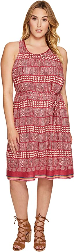 Lucky Brand Plus Size Jacquard Border Print Dress