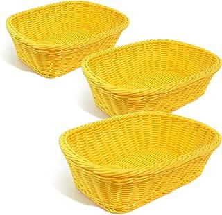 Colorbasket Hand Woven Waterproof Rectangular Basket, Sunshine Yellow