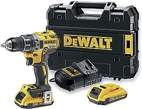 DEWALT DCD791D2-QW - Taladro Atornillador a bateria sin escobillas XR 18V 13mm 70Nm Li-Ion 2,0Ah con maletín TSTAK