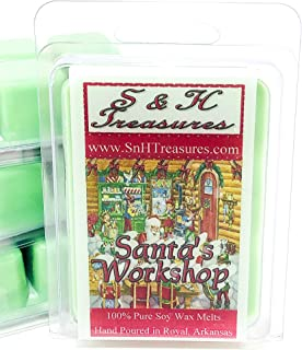 Santa's Workshop - Pure Soy Wax Melts - 1 pack (6 cubes)
