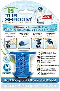 TubShroom TSBLU454 The Revolutionary Tub Drain Protector Hair Blue