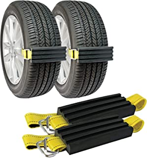 TRACGRABBER Trac-Grabber – Snow, Mud and Sand Tire Traction Device, Set of 2 – for..