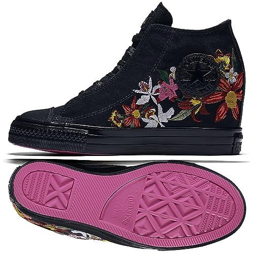f1850e521f6940 Converse PatBo Women s Chuck Taylor Lux Wedge Shoe Silver