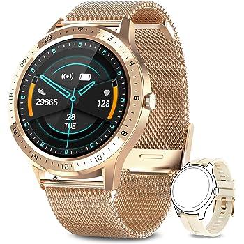 AIMIUVEISmartwatch, Orologio Fitness Uomo Donna Cardiofrequnzimetro da Polso Contapassi e Calorie Cronometro Impermeabile IP67 Activity Tracker Smart Watch per Android iOS Oro…