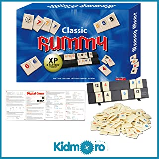 Kidmoro Rummy Tile Board Game, Deluxe 2-6 Players