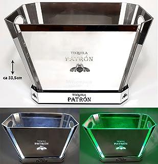 Patron Tequila Flaschenkühler beleuchtet weiß/grün