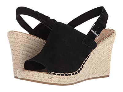 TOMS Monica (Black Suede) Women
