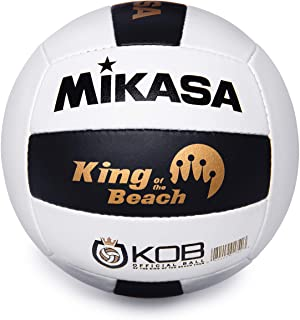 MIKASA, King of the Beach Official Pro Beach Game Volleyball, Black/White, One Size