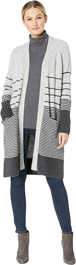 Stripe Duster Cardigan Sweater