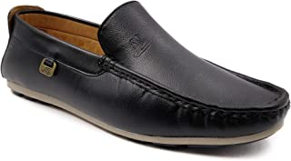 WBH Look Style Men's Black Moccasins Loafers for Men (LK 1451)