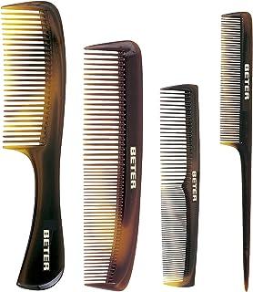 Beter 12998 - Pack de 4 peines batidores, color marrón