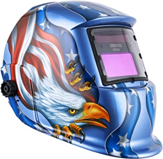 DEKOPRO Welding Helmet Solar Powered Auto Darkening Hood with Adjustable Shade Range..
