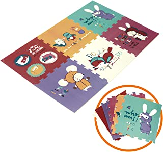 Baby Play mat Kid's Puzzle Exercise Play Mat for Floor Crawl mat for Baby with XPE Foam Thicking 0.8in