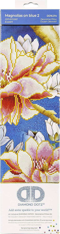 Diamond Dotz Embroidery Pillow Facet half Kit-Magnolia Art On NEW before selling ☆