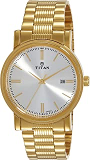 Titan Analog Off-White Dial Men's Watch-NJ1712YM02