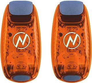 چراغ ایمنی چراغ (2 بسته) + پاداش رایگان | کلیپ در لامپ های باربری / رانندگی برای دونده ها، سگ ها، دوچرخه، پیاده روی | بهترین لوازم جانبی قابل توجه برای دنده بازتاب، دوچرخه و غیره