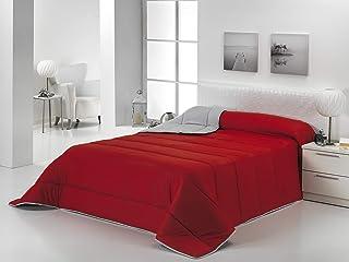 Energy Colors Textil - Hogar - Moscow - Edredón/Relleno Nórdico Reversible Máxima Calidad Transpirable 350 gr/m2 Microfibra Alta Densidad Invierno/Otoño (Rojo - Negro, Cama 135 y 150 (240 x 260 cm))