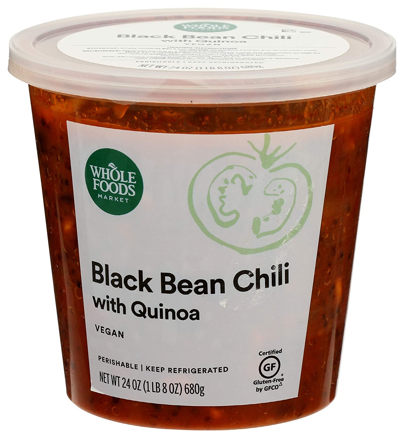 Whole Foods Inexpensive Market Black Bean Chili Popular products Ounce 24 Quinoa With