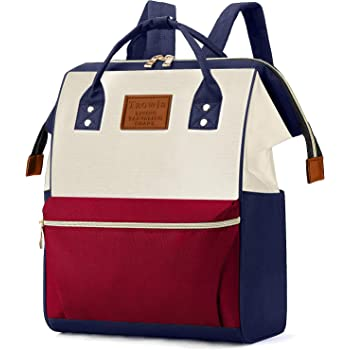 Tzowla College School Travel Laptop Backpack Business Book Doctor Shopping Bag Light Weight Casual Daypack for Women Men Girls Boys Student Fit 14 inch Compter Netbook-RedNavyBlue