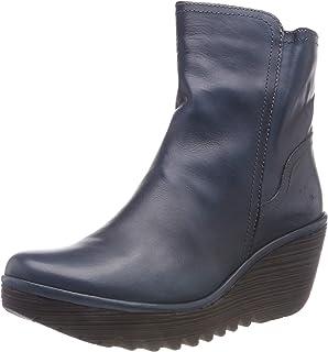 0968fd28c Fly London Women's Women's Yeti Leather Wedge Heel Ankle Boots
