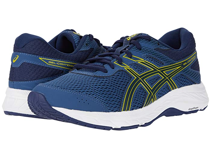 ASICS  GEL-Contend 6 (Grand Shark/Vibrant Yellow) Mens Running Shoes