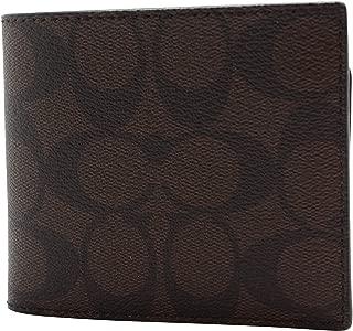 Men F74993 Signature PVC Compact ID Wallet Mahogany/Black