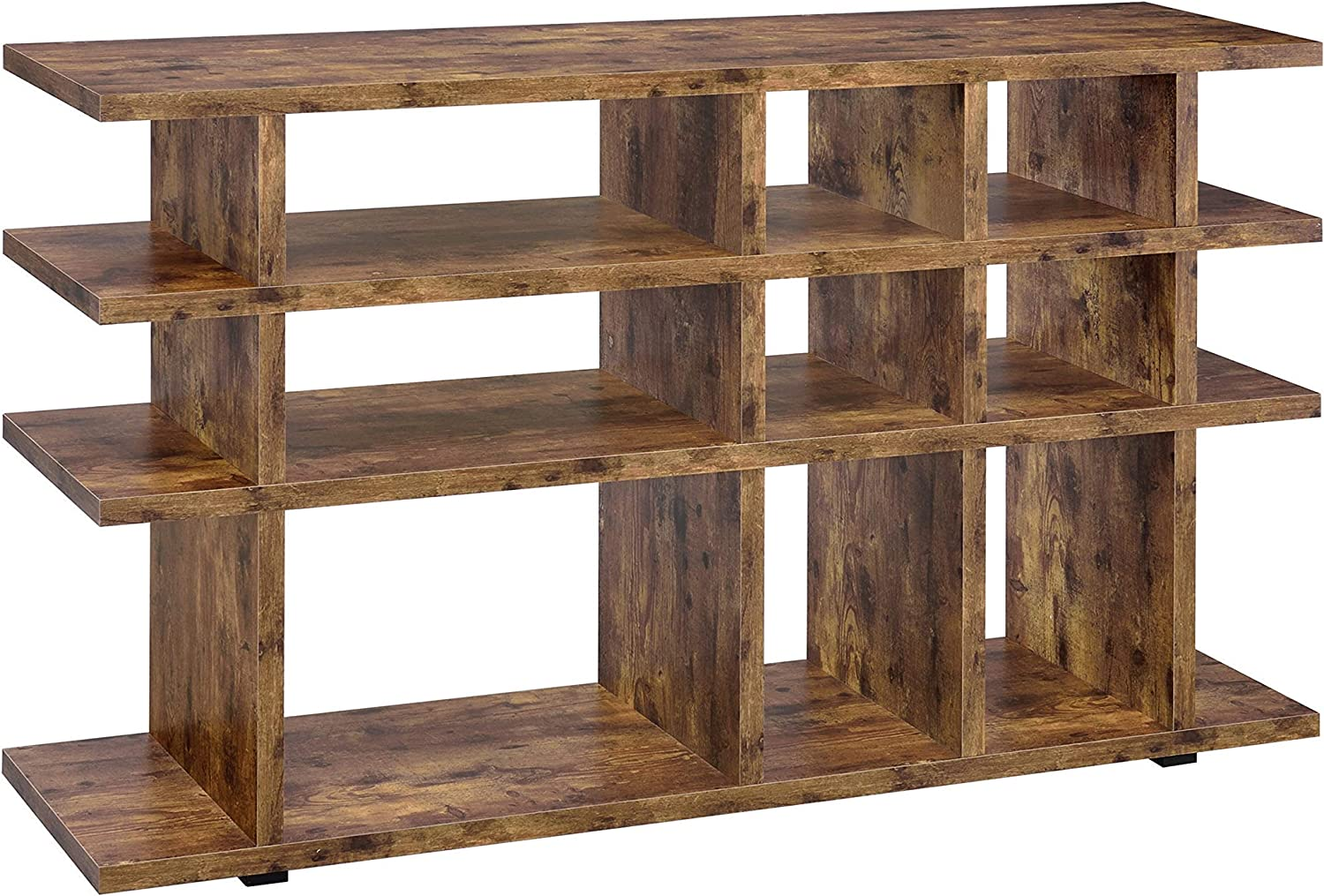 Coaster Home Safety and trust Furnishings 3-Tier Bookcase Antique Max 87% OFF She Nutmeg Open