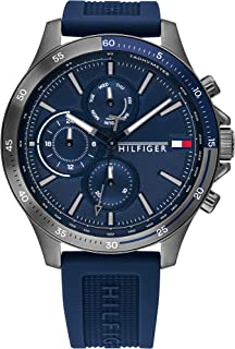 Tommy Hilfiger Men'S Navy Dial Blue Silicone Watch - 1791721