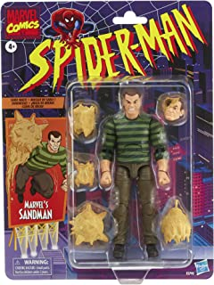 Spider-Man Hasbro Marvel Legends Series 6-inch Scale Action Figure Toy Marvel's Sandman, Includes Premium Design, and 5 Accessories