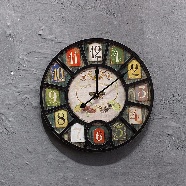 en venta en línea Unión American Home Salón Salón Salón Moderno Dormitorio Simple Reloj Casa Creativa, un Reloj rojoondo de 40 cm.  n ° 1 en línea