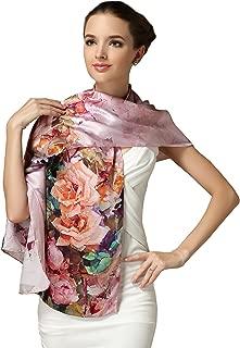 Ellettee, 69 x 21 inches Silk Scarf, Fashion for Women Perfect Gift Elegant Neckwear