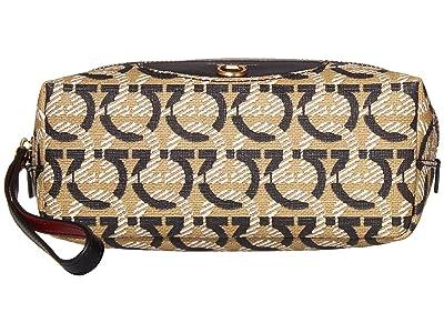 Salvatore Ferragamo Travel Cosmetic Bag (Gancini Print) Handbags