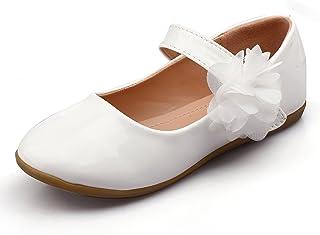 a373dbbe645 Nova Utopia Toddler Little Girls Flower Girl Dress Ballet Mary Jane Bow Flat  Shoes