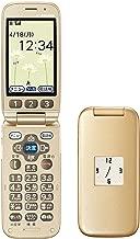 NTTドコモ らくらくホン ベーシック3 F-08C ゴールド 携帯電話 白ロム ドコモ docomo