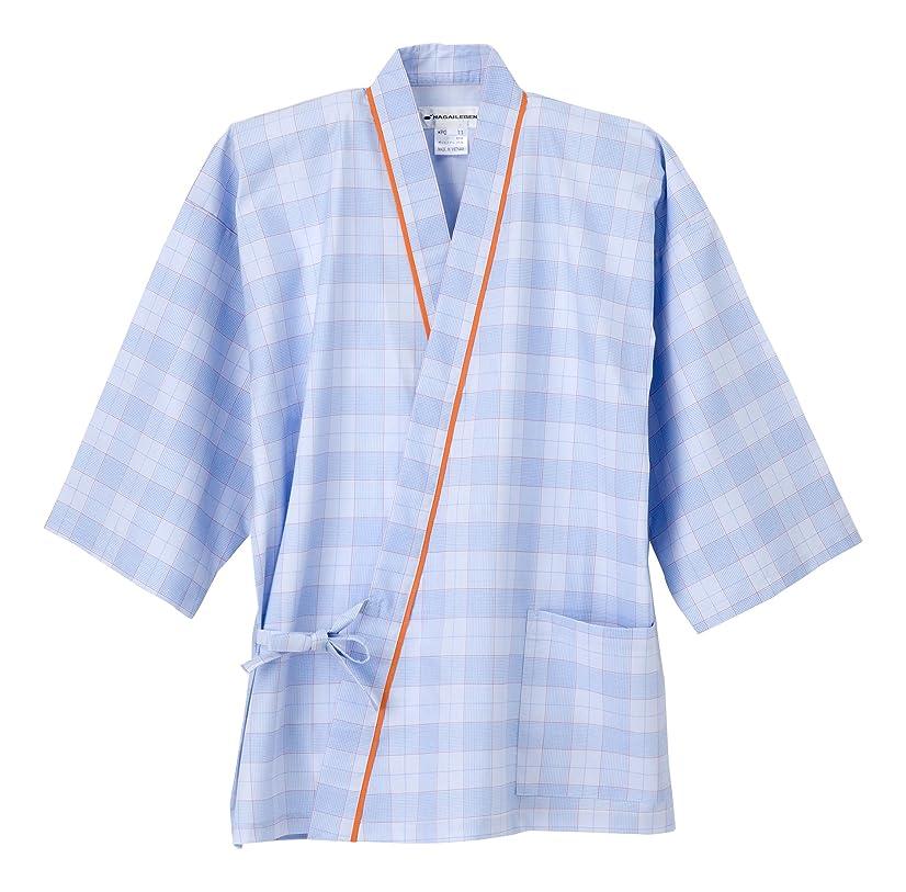 泣き叫ぶ罰するスカイナガイレーベン NAGAILEBEN 患者衣じんべい型 PG-1411(EL) ブルー