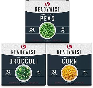 ReadyWise Freeze-Dried Vegetable Box Kit | Emergency Food | 72 Servings
