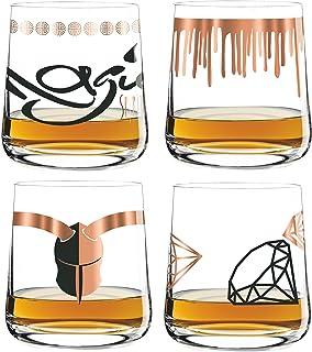 Ritzenhoff Next Whisky 4 er Set Whiskeygläser Wurm, Garland, Mahmoudi, Chiera Herbst 2018 mit Glasreinigungstuch
