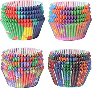 STARUBY Baking Cups Muffin Cupcake Liners Colorful Rainbow Combo Disposable Greaseproof Baking Paper Cups Set Standard Size, Pack of 400